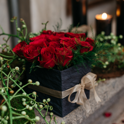 Roses, Love, Romance, Gift Box, Arrangement